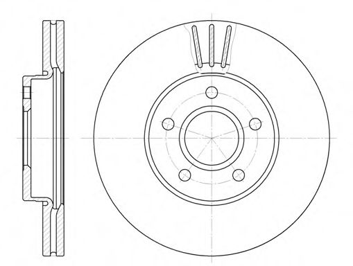 Диск тормозной FORD FOCUS 04- ,VOLVO S40 05- передн. (пр-во REMSA)                                    арт. 671010