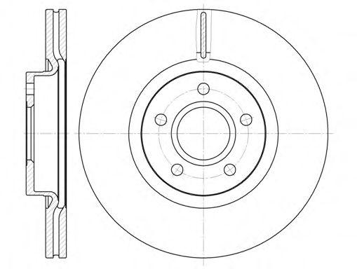 Диск тормозной FORD C-MAX, FOCUS передн. (пр-во REMSA)                                                арт. 671110