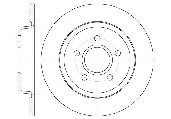 Диск тормозной FORD C-MAX, FOCUS II 11.04, FOCUS III 12.07 задн. (пр-во REMSA)                        арт. 671200