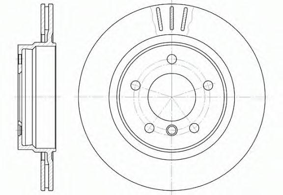 Диск тормозной (пр-во REMSA)                                                                         REMSA 672210