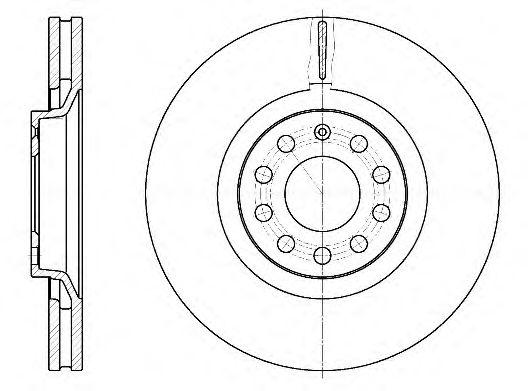 Диск гальмівний передній Audi A6 02- REMSA 673010