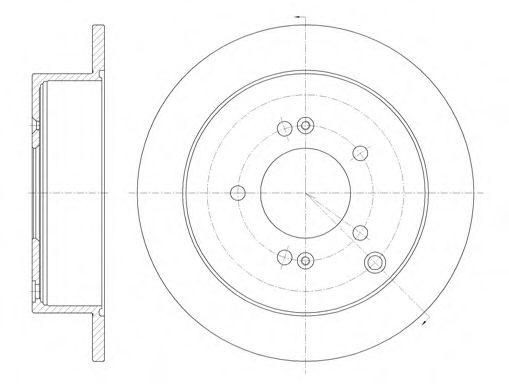 Диск тормозной HYUNDAI SANTA FE TUCSON 01- задн. (пр-во REMSA)                                        арт. 675600
