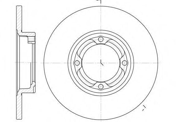 Тормозной диск  арт. 683200