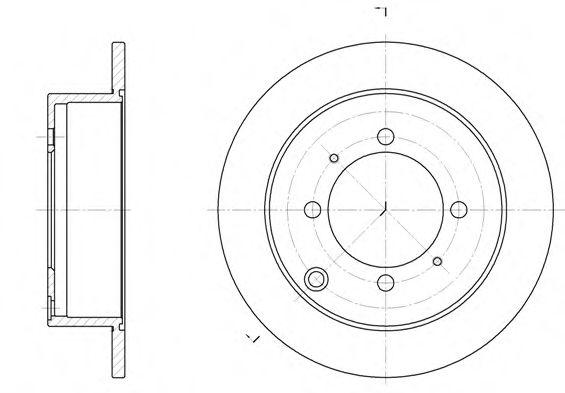 Диск тормозной MITSUBISHI GALANT, SPACE WAGON задн. (пр-во REMSA)                                     арт. 683800