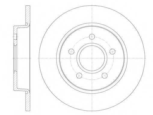 Тормозной диск  арт. 684600