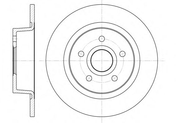 Диск тормозной FORD TRANSIT задн. (пр-во REMSA)                                                       арт. 686300