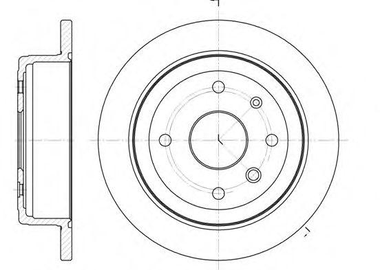 Диск тормозной CHEVROLET EVANDA 2.0I 16V 02/08-,05/03- задн.  (пр-во REMSA)                           арт. 687700