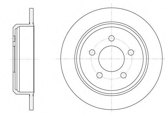 Тормозной диск  арт. 691300