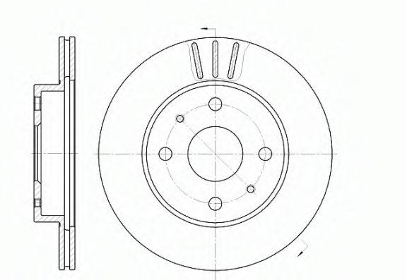Тормозной диск  арт. 695410