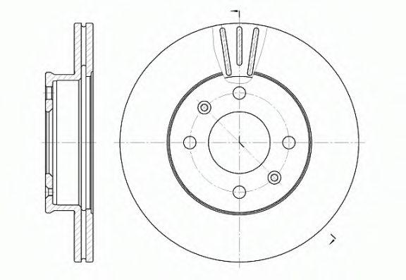Диск тормозной HYUNDAI GETZ 1.1I 12V 02.07- передн. (пр-во REMSA)                                     арт. 695810