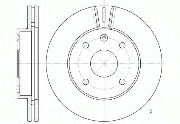 Диск тормозной CHEVROLET EPICA 01/05- EVANDA 03/05- LACETTI 03/05- передн. (пр-во REMSA)              арт. 695910