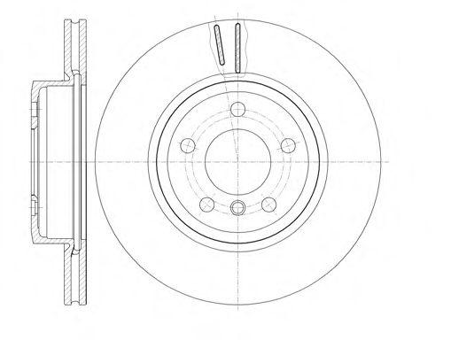 Диск тормозной BMW X3 03- передн. (пр-во REMSA)                                                       арт. 697810