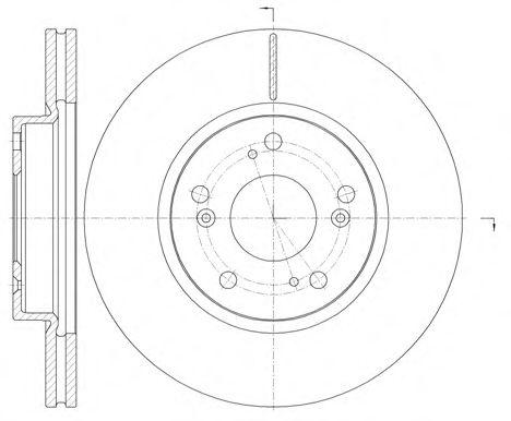 Диск тормозной HONDA CIVIC VII 1.4-2.2 06-, FV-R 1.7-2.0 05- передн. (пр-во REMSA)                    арт. 698610