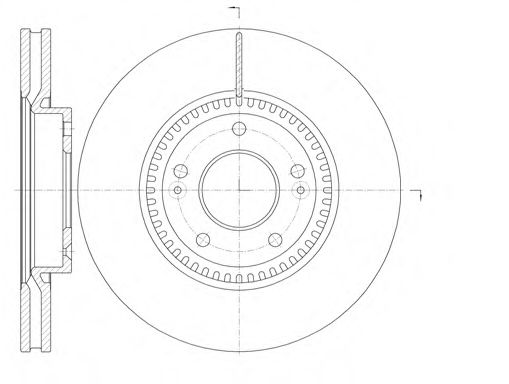 Диск тормозной HYUNDAI ix35 (LM) (04/10-) передн. (пр-во REMSA)                                       арт. 698810