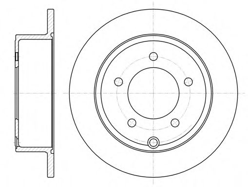 Тормозной диск  арт. 6102500