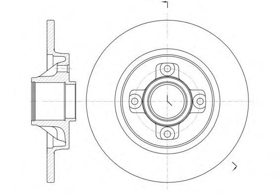 Тормозной диск REMSA 6105800