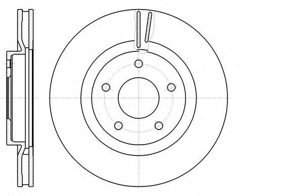 Диск гальмівний передній вентильований REMSA 6108710