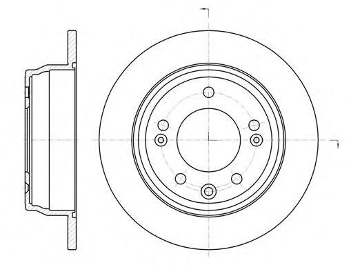 Диск тормозной HYUNDAI i30 (FD) (10/07-11/11) задн. (пр-во REMSA)                                     арт. 6110500