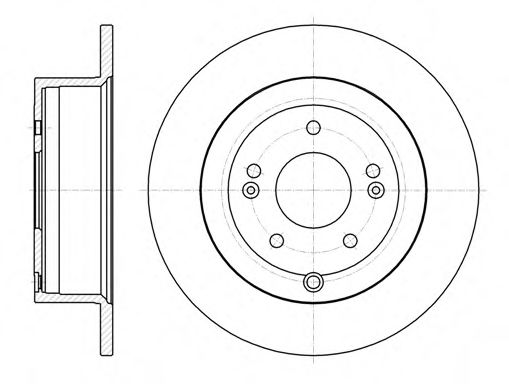 Диск тормозной HYUNDAI SANTA FE 2.2 CRDI 2.7I V6 06- задн. (пр-во REMSA)                              арт. 6110600