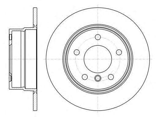 Тормозной диск  арт. 6114400