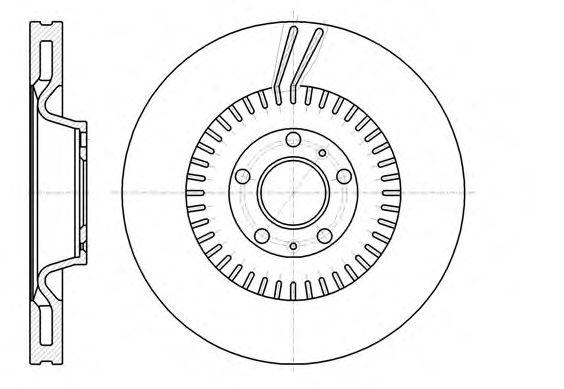 Тормозной диск REMSA 6115410