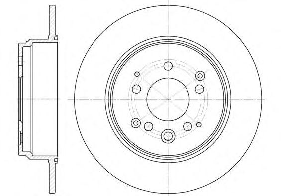 Диск тормозной HONDA CR-V 2.0 02- задн. (пр-во REMSA)                                                 арт. 6115700