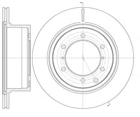 Тормозной диск  арт. 6115910