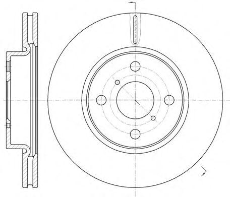 Диск тормозной TOYOTA YARIS 05-, передн., вент. (пр-во REMSA)                                         арт. 6116910