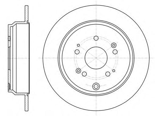 Диск тормозной HONDA CR-V задн. (пр-во REMSA)                                                         арт. 6117400