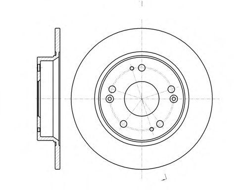 Диск тормозной HONDA CIVIC VII 1.3-2.2 06- задн. (пр-во REMSA)                                        арт. 6117500
