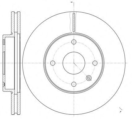 Диск тормозной CHEVROLET EVANDA 2.0I 16V 02.08- передн. (пр-во REMSA)                                 арт. 6118110