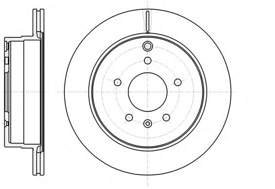 Диск тормозной CHEVROLET CAPTIVA задн., вент. (пр-во REMSA)                                           арт. 6118210