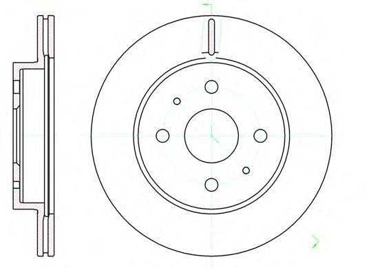 Тормозной диск  арт. 6119010