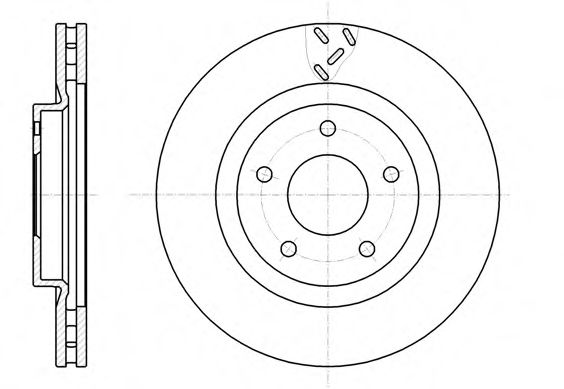 Диск тормозной DODGE CALIBER 1.8 2.0 06- передн. (пр-во REMSA)                                        арт. 6120010