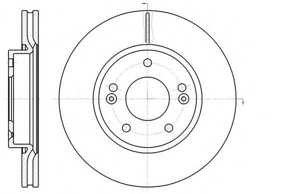 Тормозной диск  арт. 6120810