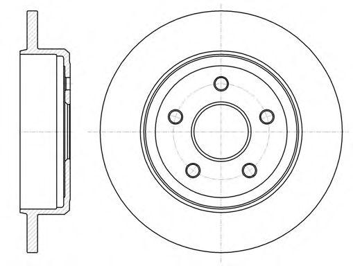 Тормозной диск  арт. 6121100