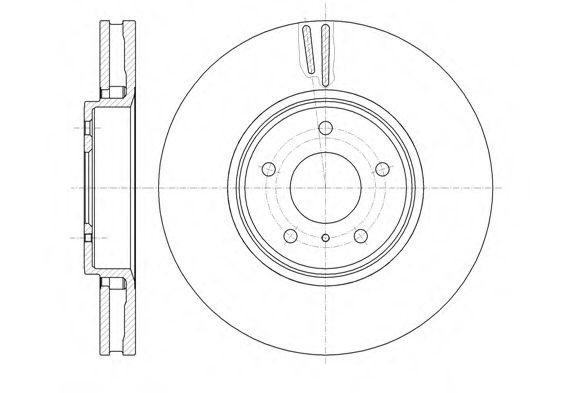 Тормозной диск  арт. 6124410