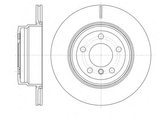 Диск тормозной BMW X5, X6 задн., вент. (пр-во REMSA)                                                  арт. 6128710