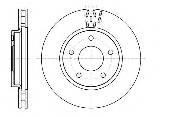 Диск тормозной MITSUBISHI LANCER 1.5-2.0 08-, DODGE CALIBER 1.8-2.4 06- передн. (пр-во REMSA)         арт. 6129110