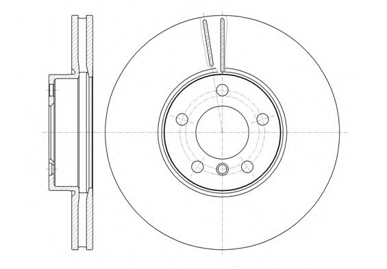 Тормозной диск  арт. 6130710