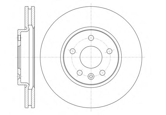 Диск тормозной CHEVROLET CRUZE 1.6I 16V 09.05- передн. (пр-во REMSA)                                  арт. 6131310