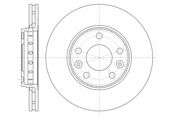Ø 280mm Диск гальмівний перед. Dacia Duster/Renault Megane III/Scenic III 1.4-2.0 08- (280X24) REMSA 6134610