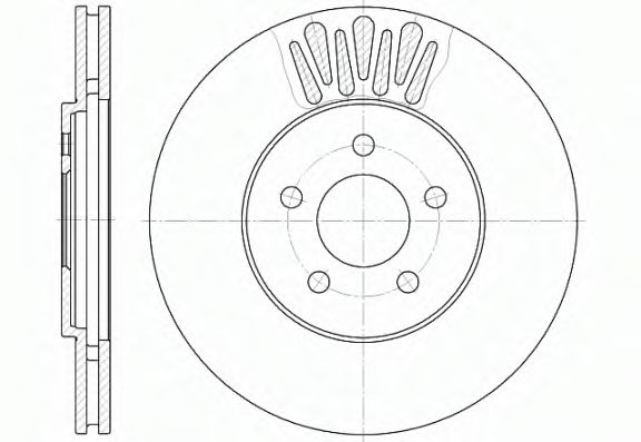 Диск тормозной (пр-во REMSA)                                                                         REMSA 6136110