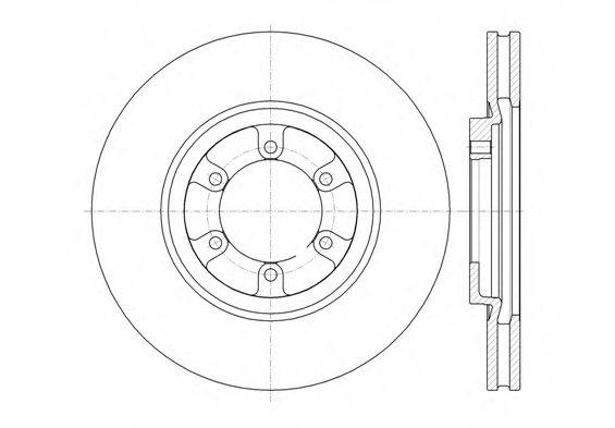 Тормозной диск  арт. 6136610