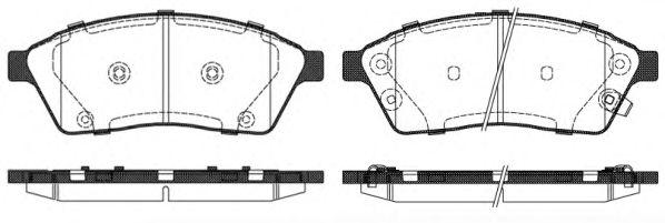 Комплект тормозных колодок, дисковый тормоз  арт. 141100