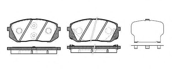 Колодка торм. HYUNDAI I40 2011- передн. (пр-во REMSA)                                                 арт. 130222