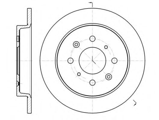 Тормозной диск  арт. 6139500