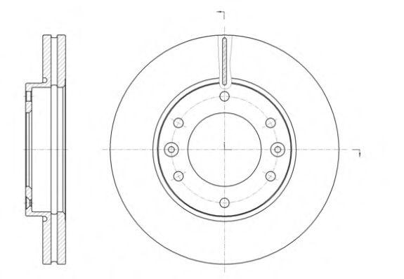 Диск тормозной HYUNDAI H-1 2.5CRDI 08- передн. (пр-во REMSA)                                          арт. 6139610