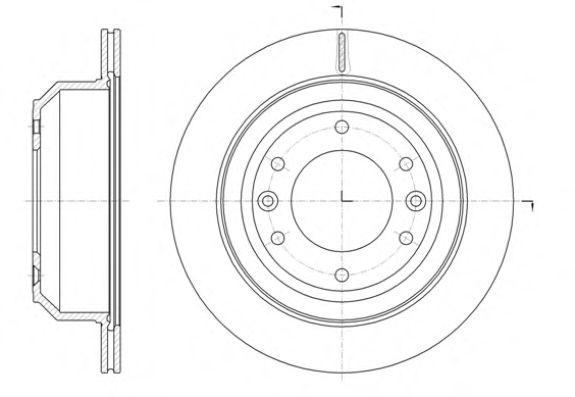 Диск тормозной HYUNDAI H-1 2.5CRDI 08- задн. (пр-во REMSA)                                            арт. 6139710
