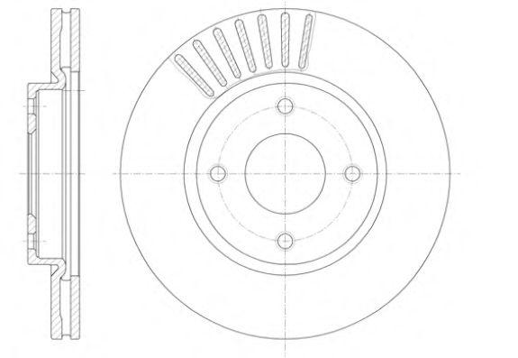 Диск гальмівний перед. L/P Nissan Cube, Tiida 1.5D/1.6/1.8 07-  REMSA 6141010